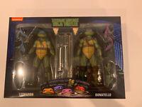 Leonardo Donatello NECA 2-Pack WalMart Exclusive TMNT Turtles '90 Movie -In Hand