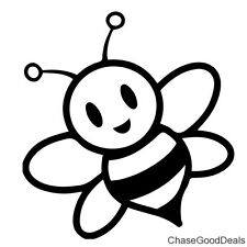 BLACK Bumblebee Bee Insect Stripes Funny Vinyl Decal Car Window Sticker