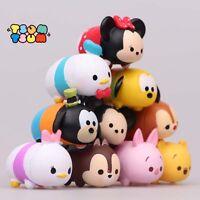 10 pcs Disney Tsum Tsum Action Figure Mickey Minnie Goofy Pooh Doll Play set Toy
