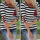 AU Stock Womens 3/4 Sleeve Tops Summer Beach Casual Loose Blouse Top T Shirt Tee