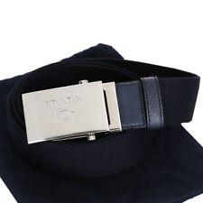 Prada 100% Authentic Navy Canvas Belt - 2CN023 - BNIB - Size 90/36
