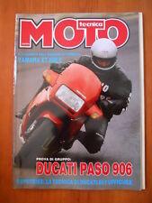 MOTO TECNICA n°5 1990 Yamaha XT 600 E Ducati Paso 906  [P74]