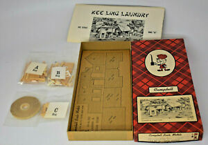 CAMPBELL SCALE MODELS HO SCALE LAUNDRY & CIGAR STORE KIT #365 UNUSED IN BOX
