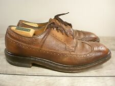 Vintage Et Wright Leather Men's Oxfords Wingtips Lace Up Dress Shoes Size 10 D