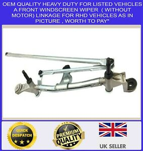 FRONT WIPER LINKAGE MECHANISM FOR 2013 TO 2020 RENAULT CLIO MARK IV (NOT MOTOR)