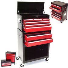 06197 Chariot à 8 outils Servante d'atelier rouge coffre malle rangement amovibl