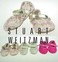 Stuart Weitzman SW Baby Girls Shoe Lace Design Hard Sole US Sz 1,2,3,4 0-12m NEW