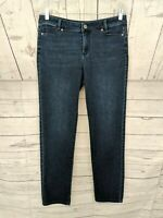 J. JILL Women's Dark Wash Slim Boyfriend Straight Leg Jeans - Size 6 x L30
