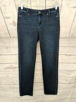 J. JILL Women's Dark Wash Slim Boyfriend Straight Leg Jeans - Size 6 x L30