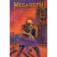 More details for megadeth peace sells but whos buying textile poster official premium fabric flag