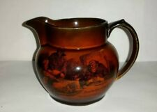"""Antique Ridgways 4"""" Pitcher Scenes from Coaching Days and Coaching Ways England"""