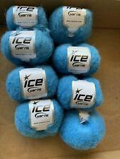 ICE Kid Mohair Alpaca Light YARN! LOT of 8! Beautiful turquoise color!