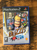 Playstation 2 Buzz Brain Of The UK Quiz Game PS2 Tested Complete Sony
