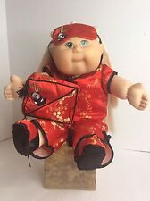 "Cabbage Patch Kids Toys R Us 2001 K-5 1st Edit Blonde Top Knot 20"" Asian Dress"