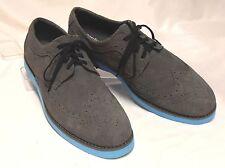 PERRY ELLIS PORTFOLIO Kenneth Size 9.5 Gray Suede Leather Wingtip Brogue Oxfords
