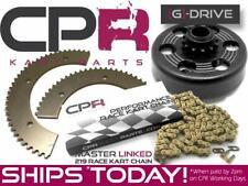 "Go Kart SR Series 3/4"" 17T Clutch, G-Drive Chain and SPLIT Sprocket 219 Pitch"
