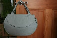 Nicoli Genuine Leather Mint Green Scale Textured Made In Italy Satchel Bag NWOT