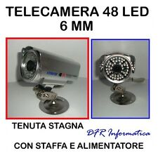 TELECAMERA 48 LED INFRAROSSI CCD 6MM TENUTA STAGNA 1/3 SONY VIDEOSORVEGLIANZA