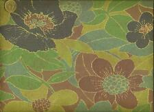 Zenus  Modern Contemporary Funky Floral Purple Blue Green Upholstery  Fabric