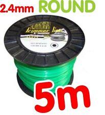 2 X 5m Strimmer Cord Line Wire String Nylon 2.4mm Round Petrol Stihl Flymo Heavy