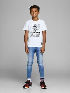JACK & JONES Jungen Skinny Jeans Hose JJIliam blau Größe 128 bis 176