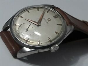 VINTAGE 1958 OMEGA 2900-4 MANUAL CAL 267 STAINLESS STEEL CASE 34.5MM