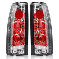 Tail Lights for 1988-1998 Chevy GMC C/K 1500 2500 3500 Chrome Clear Rear Lamps