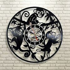 Little Monkeys_Exclusive wall clock made of vinyl record_GIFT_DECOR