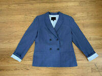 New Banana Republic blue Women's Double breasted blazer jacket sz 10
