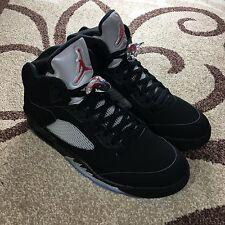 Nike Air Jordan V 5 Men's Size 14 Retro OG Black Metallic Silver 845035-003 DS