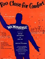 """TOO CLOSE FOR COMFORT """"MR.WONDERFUL"""" PIANO/V/GUITAR CHORDS MUSIC BOOK MINT RARE!"""