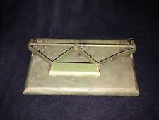 Beautiful Antique Vintage 3/2 Hole Punch Army Green Solid Wood Base and Wood han