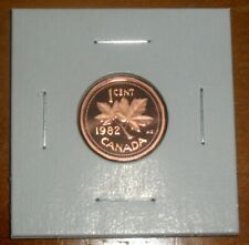 Canada 1982 Proof Penny Maple Leaf Small One Cent Coin
