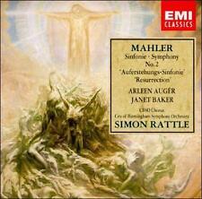 Mahler Symphony No. 2 Resurrection 2 CDs New Sealed Simon Rattle Baker Auger EMI