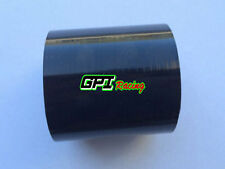 2.5 inch 64mm Silicone Straight Intercooler Intake Hose Coupler Turbo Pipe BLACK
