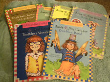 LOT OF 6 Junie B, First Grader-Barbara Park- Books paperback and hardcover