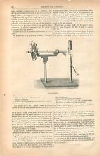 Le Saccharimètre Polarimètre jus sucrés Sucre Gaz GRAVURE ANTIQUE OLD PRINT 1877