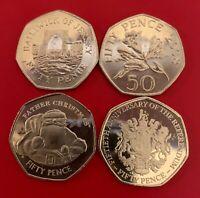 1997 - 2019 IOM - JERSEY - GIBRALTAR - GUERNSEY - 50p FIFTY PENCE COINS