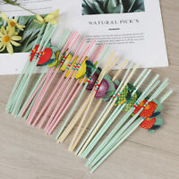 50Pcs/Set Hawaiian Cocktail 3D Fruit Straws Umbrella Beverages Straw Party Decor