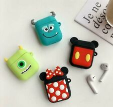 For Apple AirPods 1 2 Case Cover Silicone Disney Cute Fun Earphones Cases