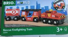 BRIO 33844 Rescue Firefighting Train - New