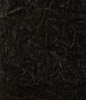 "black CRUSHED FLOCKING VELVET UPHOLSTERY / CURTAIN FABRIC 58"" BY  YARD"