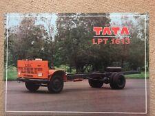 Truck Brochure - 1997 Tata LPT 1613 - India Export