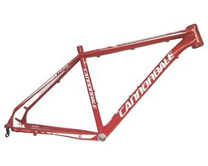 """Cannondale Trail SL4 Aluminum Hardtail Mountain Bike Frame 19"""" Large Red"""