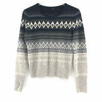 J.Crew Womens Fair Isle Crew Neck Sweater Size S Long Sleeve Wool Blend Pullover