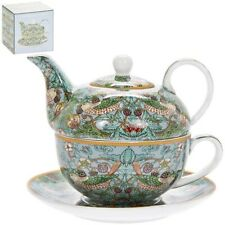 Tea For One Fine China Set With William Morris Strawberry Thief Pattern NEW