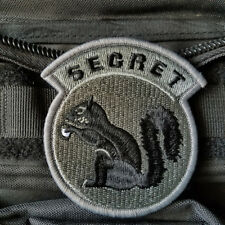 TOP SECRET SQUIRREL ARMY TACTICAL MORALE SWAT HOOK PATCH ACU DARK EMBROIDERED