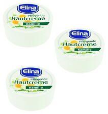 % Elina med 3er-SET pflegende Hautcreme: Kamillen Creme in 75ml Dosen