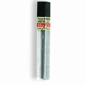 C505-4H Pentel Super Hi-Polymer Lead Refills, 0.5mm 4H, 12 Leads/Tube, 1 Tube