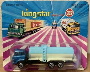 King Star Mini Car 302 rare diecast Shell Gas Truck 1/100 Korea vintage new card